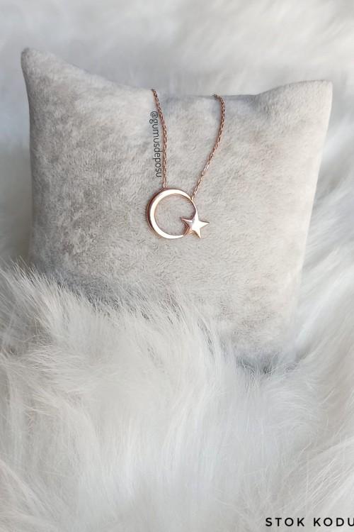 Ayyıldız Gümüş Kolye - GDK098