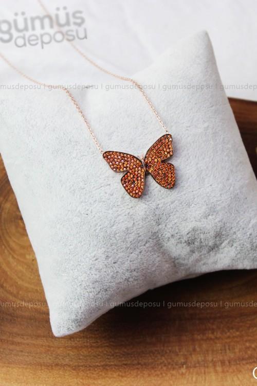 Kelebek Gümüş Kolye - GDK010