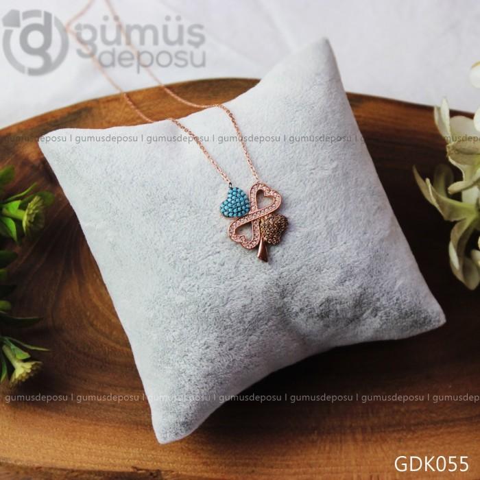 Kalp Motifli Sonsuzluk Gümüş Kolye -  GDK055