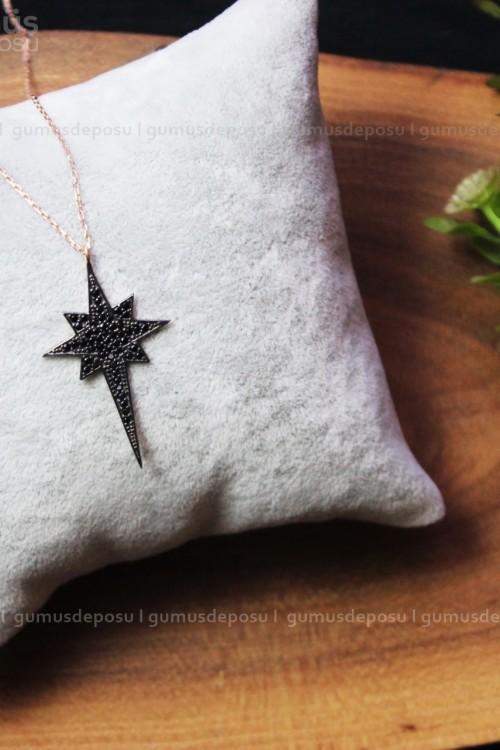 Kutup Yıldızlı Gümüş Kolye- GDK76