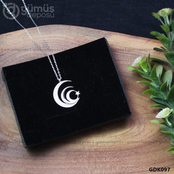 Ayyıldız Gümüş Kolye - GDK097