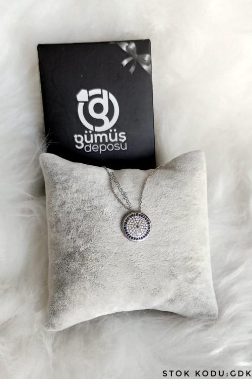 Nazar Boncuğu Gümüş Kolye - GDK041