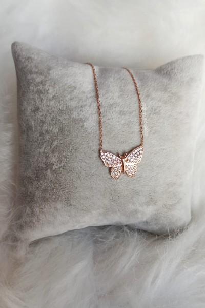 Kelebek Gümüş Kolye  - GDK053