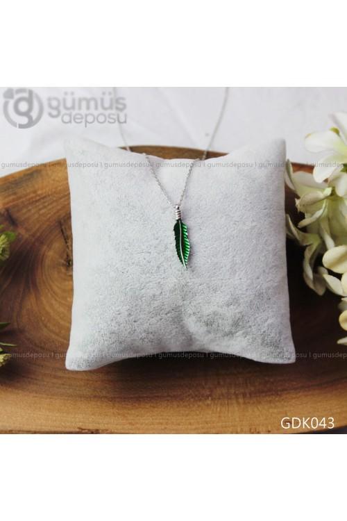 Yaprak Gümüş Kolye - GDK043